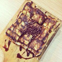 Roti bakar nutella Indonesian Food, Nutella, Waffles, Bread, Coffee, Breakfast, Recipes, Kaffee, Indonesian Cuisine