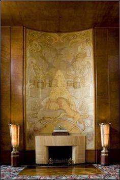 glamorous art deco fireplace - Google Search