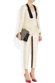 J.Crew|Tuxedo wool and silk-blend twill jacket|NET-A-PORTER.COM