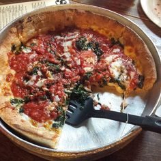 Star's famous Joe's Pizza (spinach & garlic). #joes #garlic #spinach #chicagostyle #chicago #pizza #deepdish #nomnom #nomnomnom #pizzaporn #foodporn