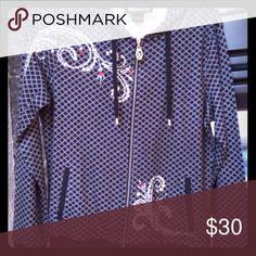 Christine Alexander hooded bling top worn once. Beautiful bling top only worn once.  Smoke free home Tops Sweatshirts & Hoodies