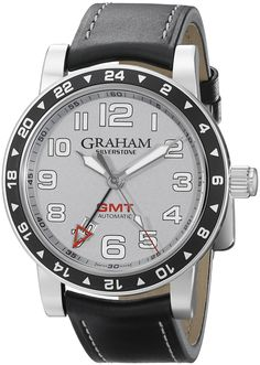 Graham Men's 2TZAS.S01A Silverstone Analog Display Swiss Automatic Black Watch