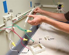 how to install an electrical outlet anywhere tutorial done by a rh pinterest com Wiring a Switched Outlet Home Outlet Wiring Diagram