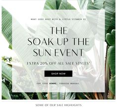 Madewell Soak Up the Sun Sale Email Newsletter Design … Minimal Web Design, Flat Design, Email Newsletter Design, Email Newsletters, Newsletter Ideas, Mailer Design, Branding Design, Layout, Sale Emails