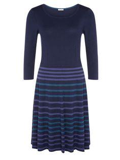 Stripe Knit Skater Dress