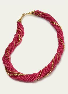 Rubies, 18k and 22k Gold. Necklaces @ Tamsen Z