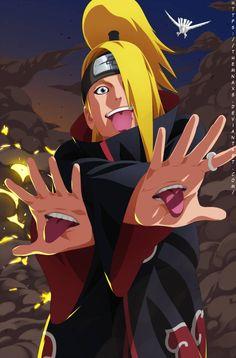 Deidara by themnaxs on DeviantArt Naruto Shippuden Sasuke, Naruto Kakashi, Anime Naruto, Naruto Art, Madara Uchiha, Otaku Anime, Manga Anime, Madara Wallpapers, Deidara Wallpaper