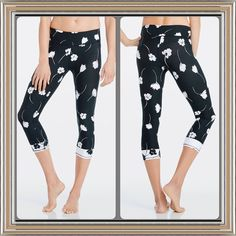Salar Capri in Wildflowers from Fabletics ✨Brand NWT!!!✨  There are absolutely the cutest workout capri's!!!  Whether you're frolicking or kettlebell swinging, these wildflower-print capris have you covered with all-way stretch fabric and chafe-resistant seams. Fabletics Pants Capris