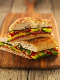 Avocado, Salami & Semi-Dried Tomato Foccacia | Australian Avocados