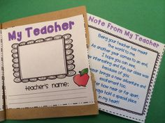 """Paper bag Memory Book for the end of the year.  These act as a student """"scrapbook"""" and parents will treasure them forever!  Love the """"pockets"""" they create to tuck away notes and pictures. $"""