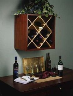 DIY Wine Rack. I think I'm going to have to do this one.