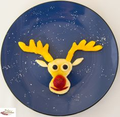 Fruit Rudolph          #kids #foods