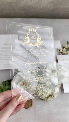 Acrylic Wedding Invitations, Wedding Invitation Cards, Wedding Stationery, Wedding Cards, Invitation Wording, Invitation Ideas, Invitation Suite, Invitation Design, Wedding Goals
