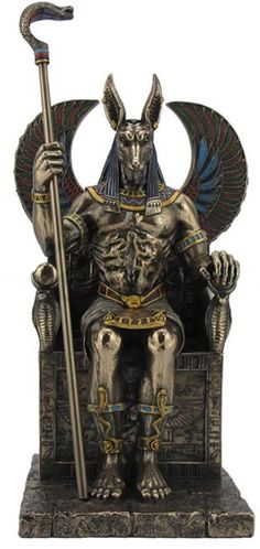 Anubis Egyptian God of the Dead Sculpture- AllSculptures.com
