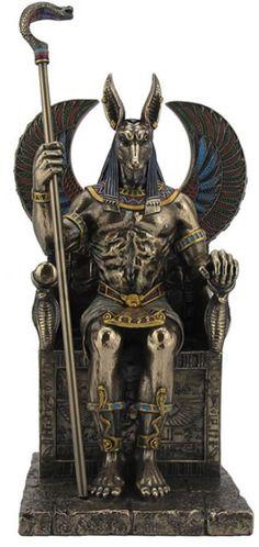 Anubis Egyptian God of the Dead Sculpture- AllSculptures.com