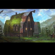 A Village in the north, Erik Taberman Artwork, Painting, Work Of Art, Auguste Rodin Artwork, Painting Art, Artworks, Paintings, Painted Canvas, Illustrators