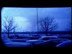 """Tornadoes of the Super Outbreak; April 3, 1974: Cincinnati/Sayler Park, Ohio, F5. The third F5 of the outbreak was a sort of """"tri-state"""" tornado, touching small portions of Indiana and Kentucky before devastating parts of the Cincinnati metro area. Footage by Bill Dirksing. (KevinR@Ky)"""