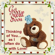 2ff6336c41732e Send this get well soon  teddy bear to your loved ones to make them feel.  Open. More information