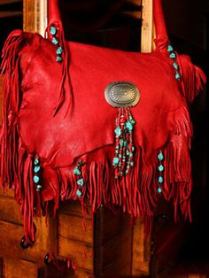 Red Deerskin Shoulderbag | JKBrand
