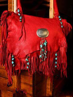 Red Deerskin Shoulderbag   JKBrand
