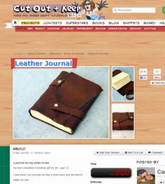 Leather Journal  diy