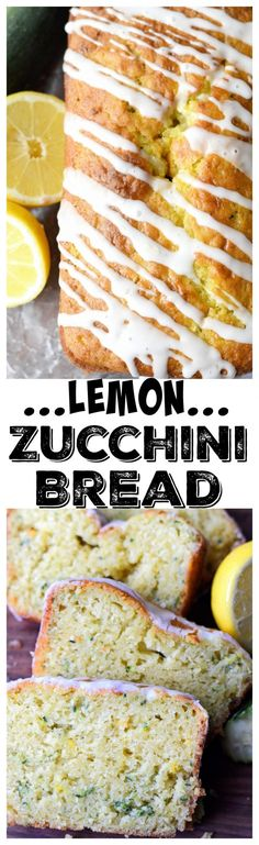 Lemon Zucchini Bread recipe is a glorious combination, super moist, lemony and delicious! Then topped with a sweet lemon drizzle, a perfect Summer recipe. Zucchini Zoodles, Lemon Zucchini Bread, Zucchini Bread Recipes, Zucchini Cake, Zucchini Spaghetti, Lemon Bread, Mini Desserts, Delicious Desserts, Yummy Food