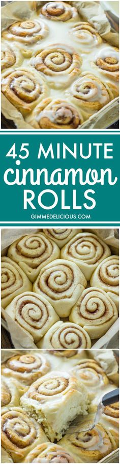 Quick 45 Minute Cinnamon Rolls