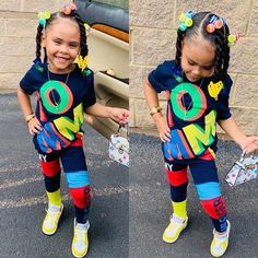 Little Girl Swag, Cute Little Girls Outfits, Toddler Girl Outfits, Kids Outfits, Summer Outfits, Cute Kids Fashion, Girls Fashion Clothes, Little Girl Fashion, Cute Baby Girl