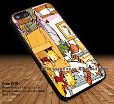 Calvin and Hobbes with Duplicator Machine iPhone 6s 6 6s  5c 5s Cases Samsung Galaxy s5 s6 Edge  NOTE 5 4 3 #cartoon #anime #calvinandhobbes DOP217
