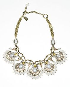 Darjeeling Light Peach Crystal Necklace Somethingvintage.com.au