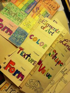 ART [VISUAL COMMUNICATION] Create an Elements of Art foldable like this!