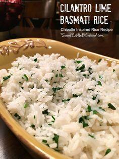 Sweet Little Bluebird: Cilantro Lime Basmati Rice ~ A Chipotle Inspired Recipe