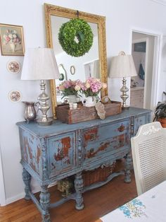 Love this entryway piece! - D.D.'s Cottage and Design