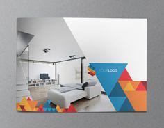 Modern geometric brochure template