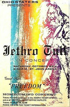 Jetho Tull Oct 23, 1971, Ohio State University (Columbus) Hippie Posters, Rock Posters, Band Posters, Music Posters, Psychedelic Bands, Psychedelic Posters, Vintage Music, Vintage Rock, Vintage Concert Posters