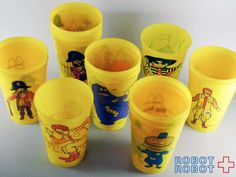 McDonlad Vintage Plastic Cups マクドナルドのプラスチックカップ