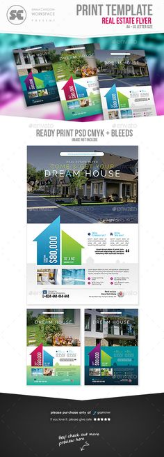 Creative Colorful Real Estate Flyer  Photoshop Psd Magazine Ad