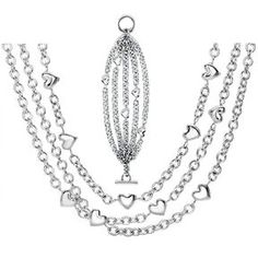 Tiffany Outlet Heart String Multi Chain Jewelry Sets half off Tiffany And Co Outlet, Tiffany And Co Jewelry, Tiffany Earrings, Best Gifts For Girls, Jewelry Sets, Chain Jewelry, Silver Jewelry, Jewelry Design, Fashion Jewelry
