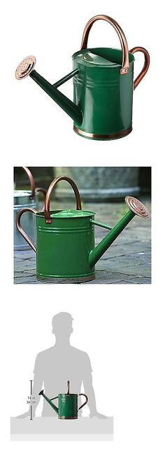 Watering Cans 20547: Gardman 8327 Hunter Green Galvanized Steel Watering Can With Copper Accents- New -> BUY IT NOW ONLY: $35.21 on eBay!
