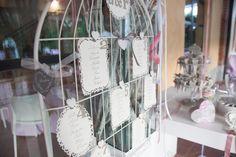 il tableau de mariage di A&R .....Azuleya ha creato le cards in forma ovale e rettangolare con cornici pizzose e i numeri dei tavoli...i nomi degli ospiti sono scritti rigorosamente a mano !! Una cosa simile ma piu marina!