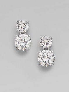Adriana Orsini Double Stud Drop Earrings. Exactly my style