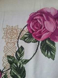 Cross Stitch Designs, Cross Stitch Patterns, Cross Stitch Flowers, Cross Stitch Embroidery, Diy And Crafts, Projects To Try, Canvas, Frame, Colors