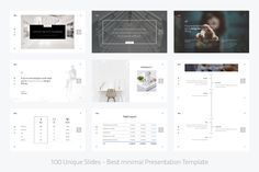 XOXO-Minimal Powerpoint Template by Dublin_Design on @creativemarket