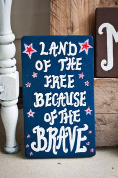 4th Fourth of July Hand Painted Wooden Sign by SassySouthernShine, $14.99