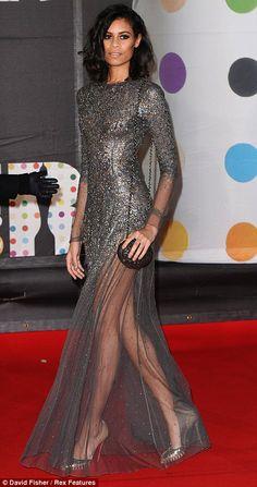 Aluna Francis wearing Theyskin's Theory at the 2013 Brit Awards.