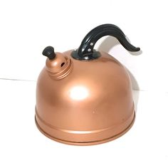 $38...Vintage Tea Kettle Whistling Tea Kettle Copper Tea Kettle Vintage Whistling Copper Tea Kettle Copper Kitchen Copper Decor Copper Teapot by LastTangoVintage on Etsy