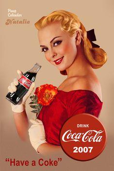 Cópia de um Poster Antigo de Propaganda de Coca Cola                                                                                                                                                                                 Mais