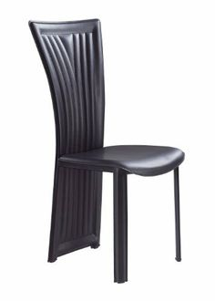 Global Furniture Dining Chair, 1513DC, Black by Global Furniture USA. $83.67. Contemporary style - works great with most any decor. Modern dining chair. Black leatherette finish. Black, Legs-PVC, Cushion-PVC, Back-PVC. Comes with standard 1 year limited warranty. This modern dining chair is covered in a black leatherette. The vertical line pattern that goes down the full back provide a contemporary visual effect.