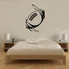 DCTOP Unique Bedroom Decoration Spinning Rugby Ball Wall Sticker Vinyl Removable Home Decor Self Adhesive Older Boys Bedrooms, Kids Bedroom, Bedroom Decor, Aviation Tattoo, Rugby Girls, Sticker Vinyl, Inspiration Wall, White Bedroom, Itachi