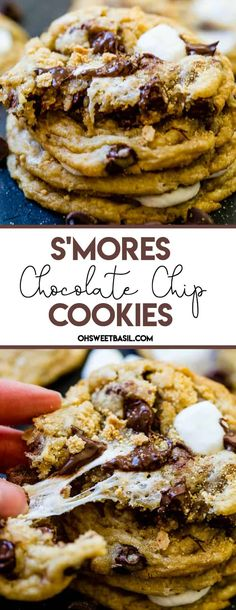 S'mores chocolate chip cookies!! Won't these be fabulous for both kids and adults?
